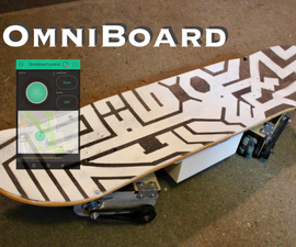 OmniBoard: Skateboard and Hoverboard Hybrid With Bluetooth Control