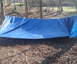 Paracord Tent or, hobos tent