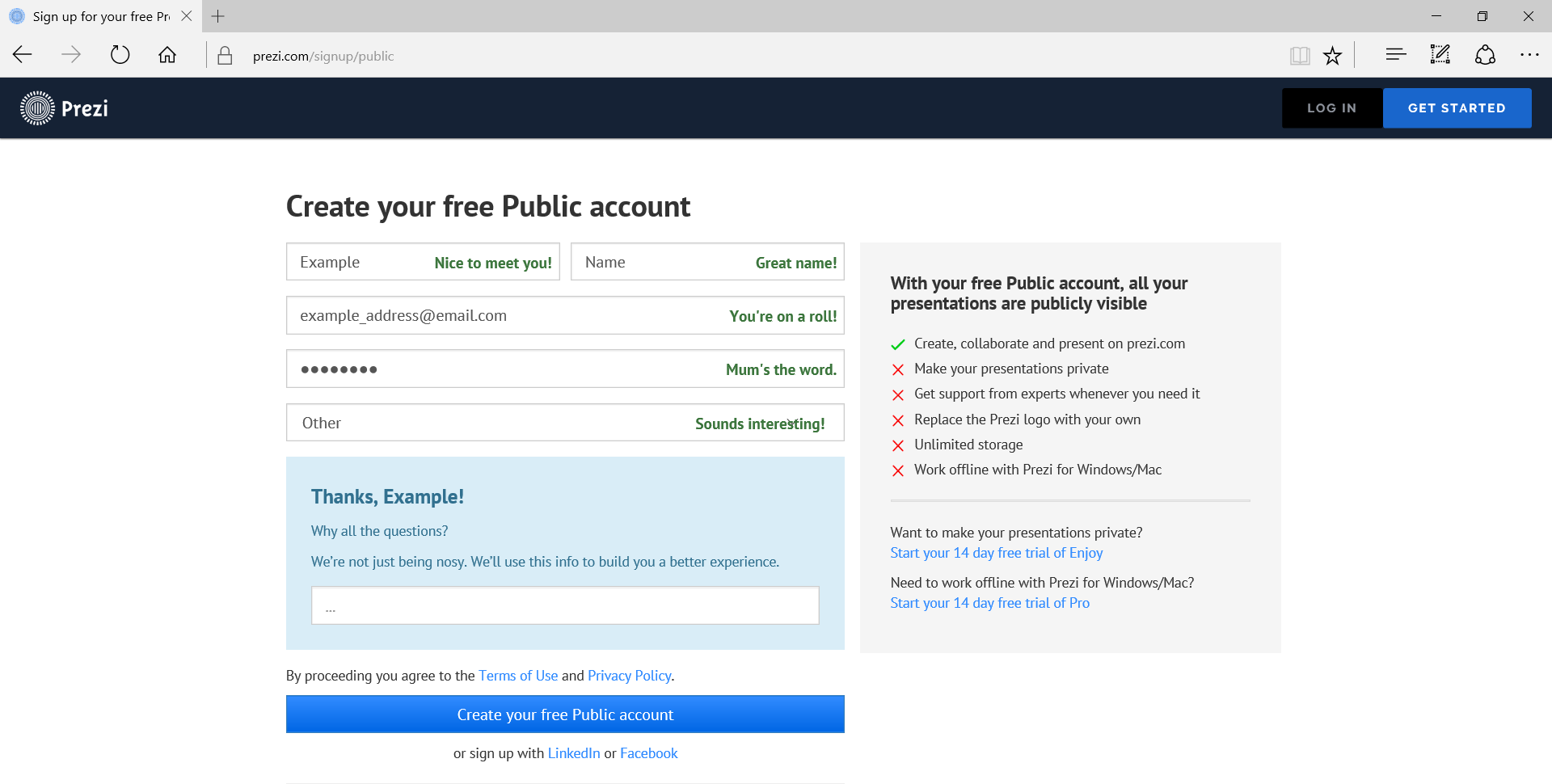 Picture of Setting Up an Account