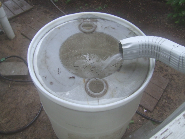 Picture of Need Free Water?  Build a Rain Barrel