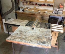 Sliding Table Saw Outfeed Extension Table