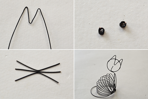 Picture of Make the Rest Part of the Cute Black Wire Wrapped Cat Craft
