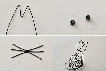 Make the Rest Part of the Cute Black Wire Wrapped Cat Craft