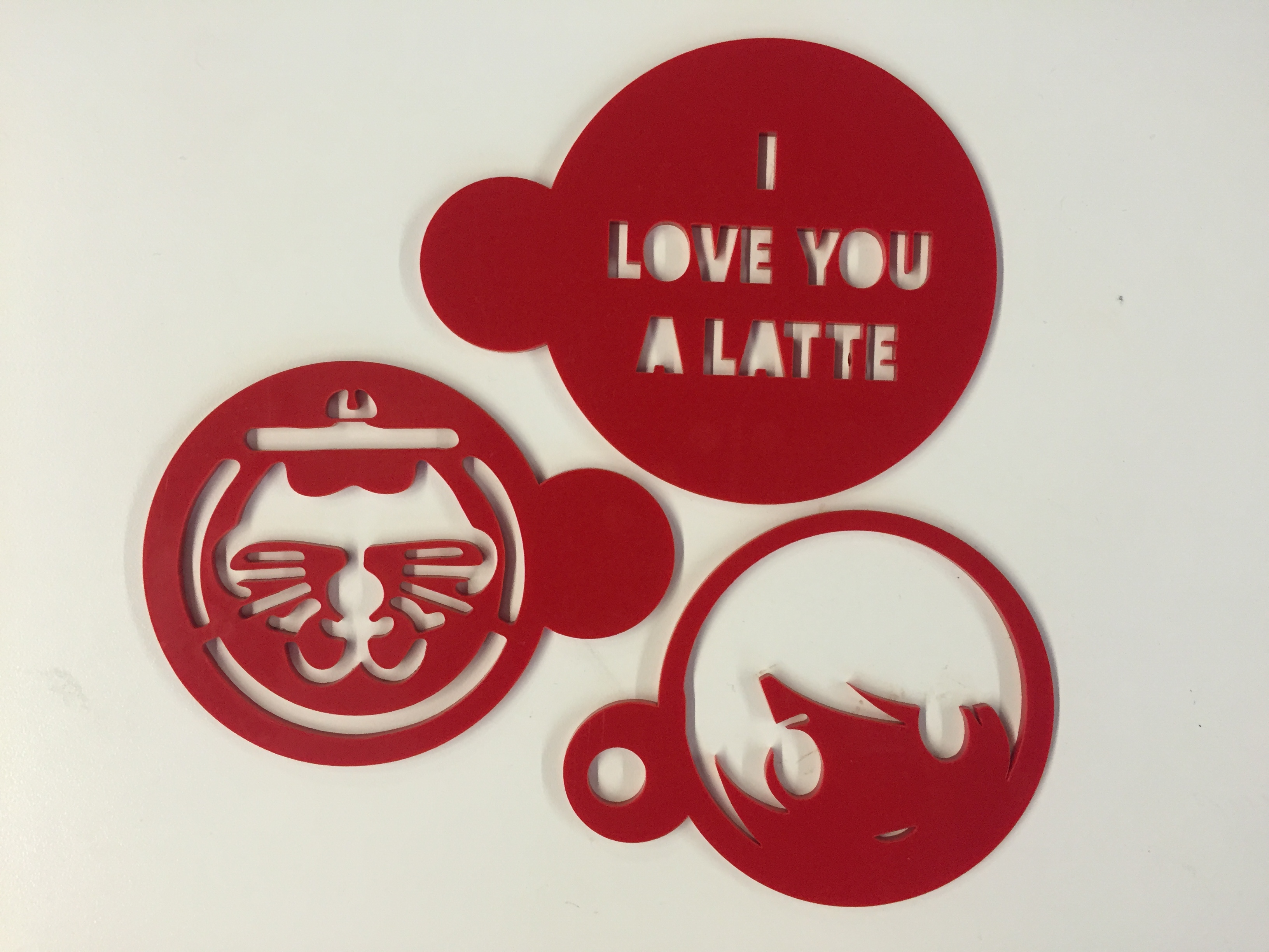 Picture of Laser Cut Coffee Stencil Using TinkerCAD