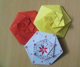 Origami Hexagonal Envelope/Pouch