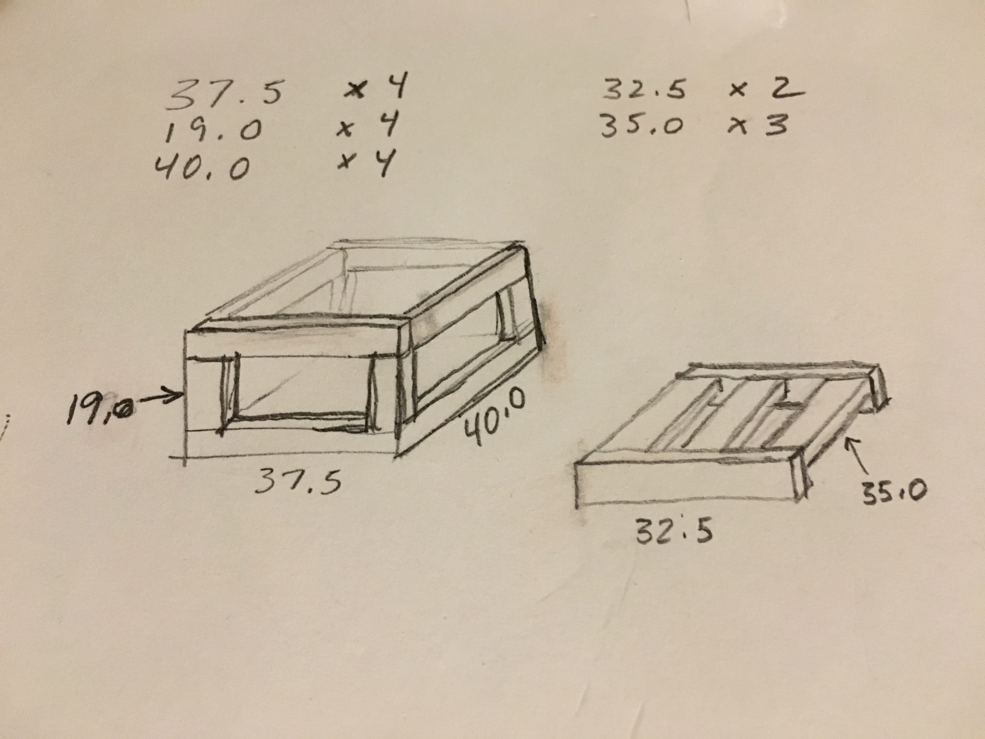 Picture of The Plan and Cutting the Wood
