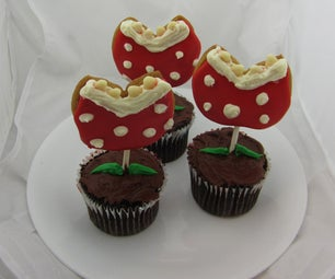 Super Mario Piranha Plant Cookie Cupcakes