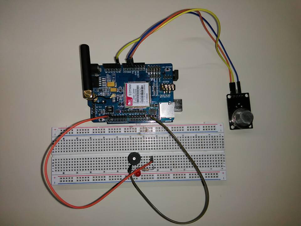Picture of Domótica: Detector De Gas MQ-2 Con Llamador Telefónico Y Alarma Sonora