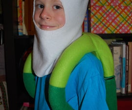 Adventure Time! Finn costume! Backpack (functional, with zipper opening) + hat.