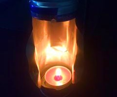 Beercan mosquito repellent cum camping light.