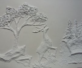 Paper Mache Embossed Painting