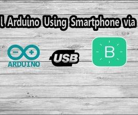 Control Arduino Using Smartphone Via USB With Blynk App