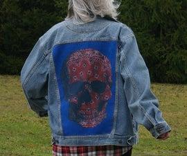 Denim Jacket Framed T-Shirt (JuxTeePosed Jacket)