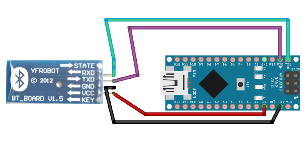 Picture of Wire the Bluetooth HC-06 Module