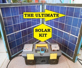 Backup energy saver All in one kit powered from a folding mobile solar Panel