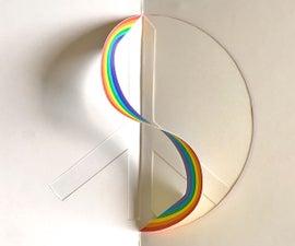 Peace & Rainbow Pop-up Card