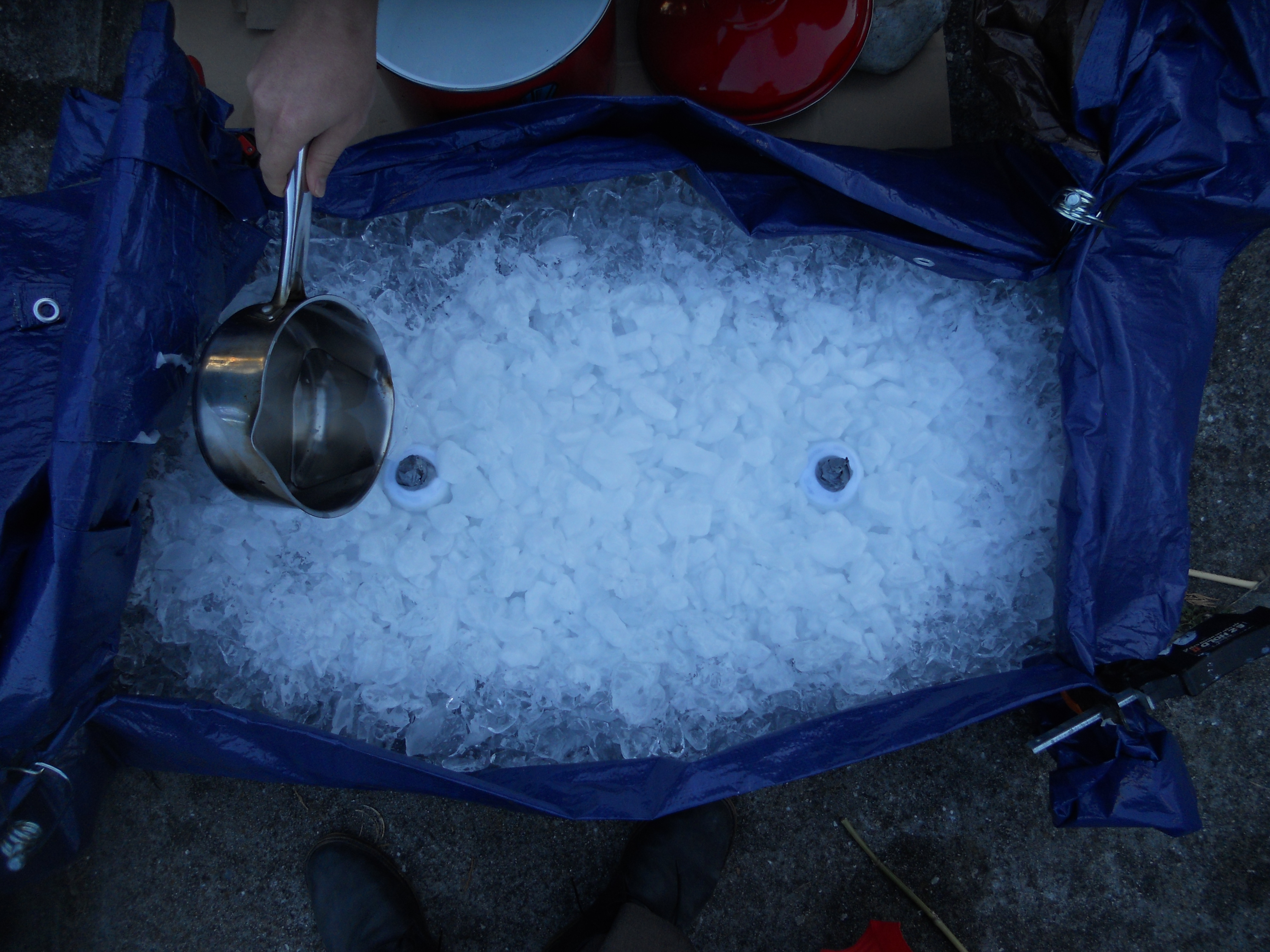 Picture of Step 5: Scoop Wax Onto the Ice