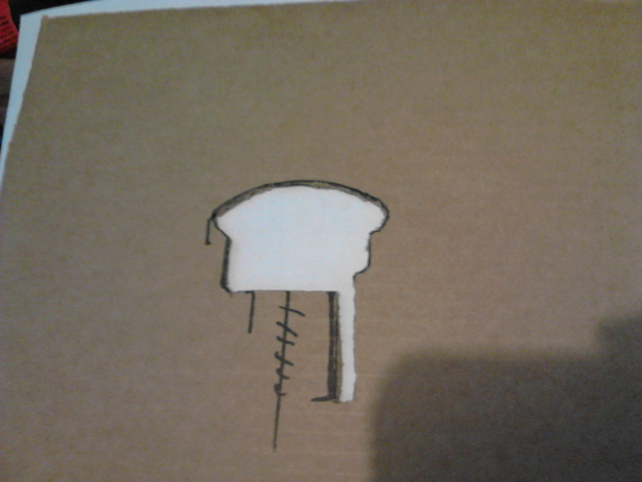 Picture of Use a Contour Guage to Transfer the Railing Profile to a Cardboard Template.