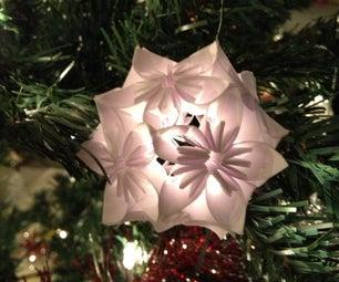 Kusudama Snowflake Ornament
