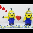 Lovely Minions With Egg Shell!!! Kids Craft Ideas!!!