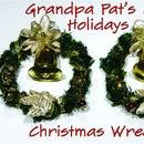 Making Mini Christmas Wreaths
