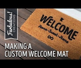 Making a Custom Welcome Mat