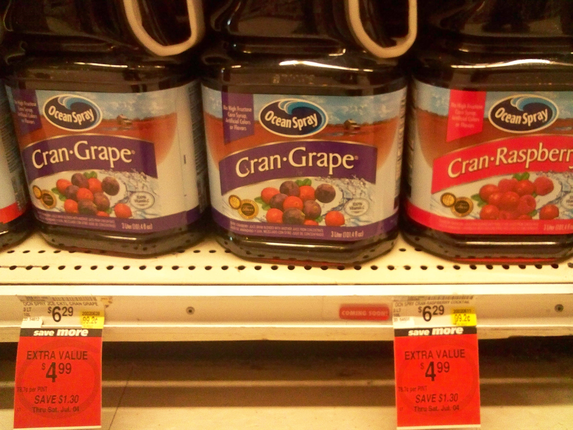 "Picture of ""Pure"" Cran/Grape/Rasp Drinks: $6.30 / Gal"