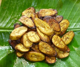 Shallow-fried Raw Banana Fritters