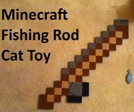 "Minecraft Fishing Rod Cat Toy - Adjustable ""line"" length!"