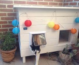 Solar powered cat house