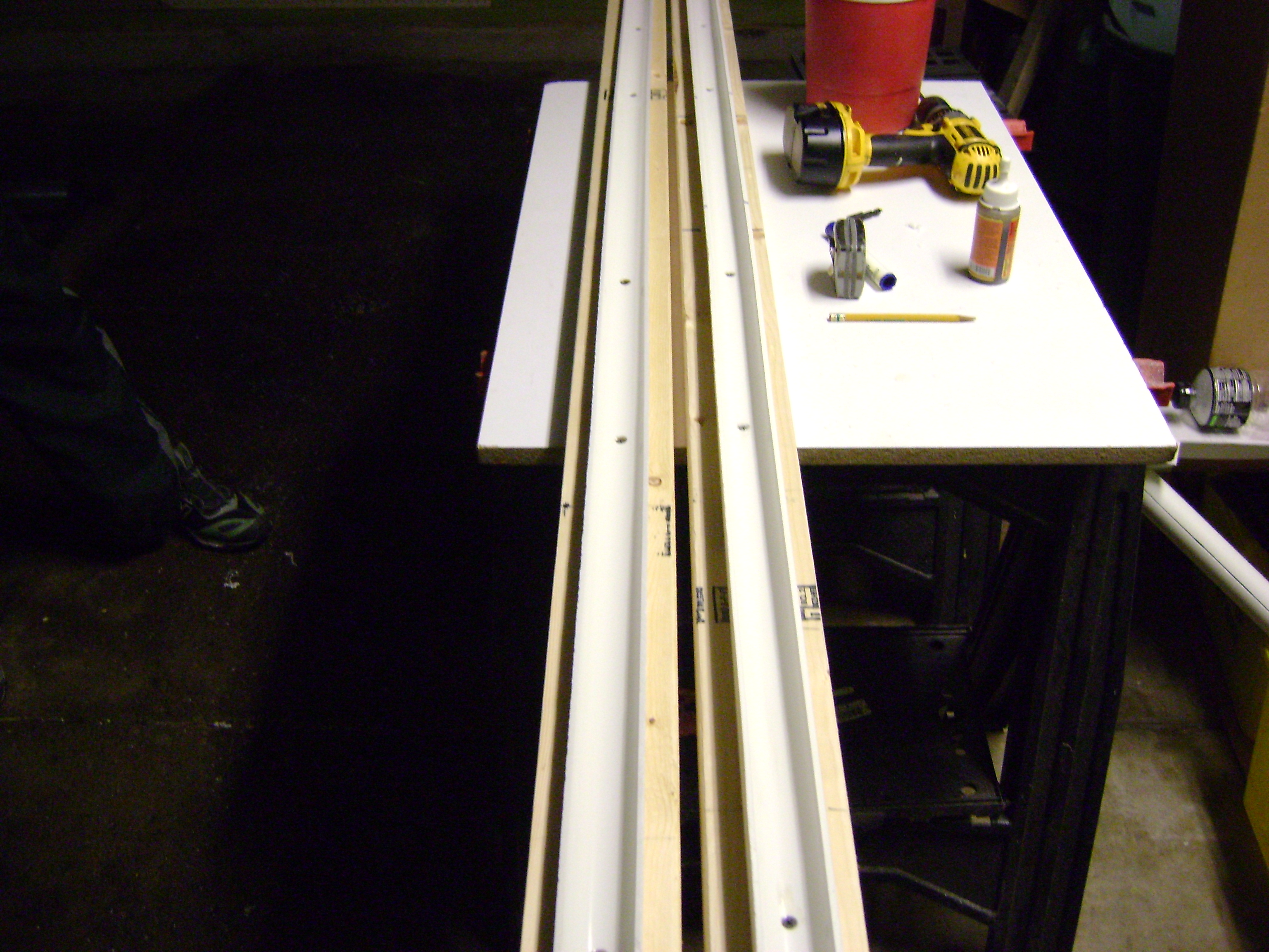 Picture of Cut the Wood and Screw the PVC In.