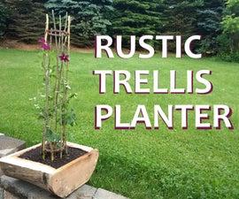 The Rustic Trellis Planter