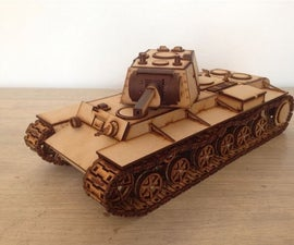 Carter's Lasercut Tank - KV-1 (motorizable)