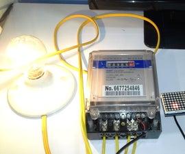 Electric Consumption Meter CHINT + ESP8266 & Matrix Led MAX7912