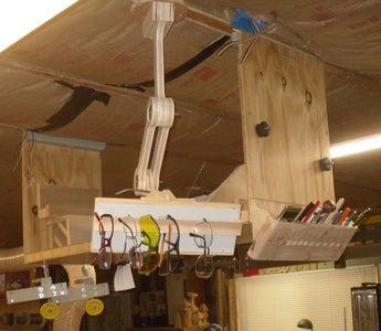 Shop Ceiling Mount, Adjustable Storage for Glasses, Marking Equipment, Etc.