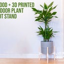 Wood + 3D Printed Indoor Plant Pot Stand