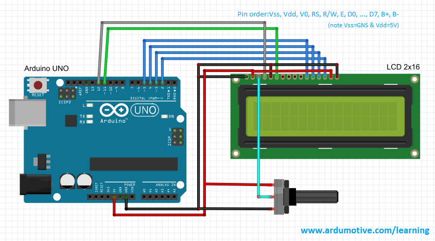 How to use an lcd display arduino tutorial 5 steps with pictures picture of the circuit asfbconference2016 Choice Image