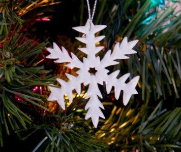 Laser Cut Plexiglass Snowflake