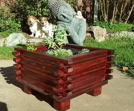 Simple Planter From Scrap Wood