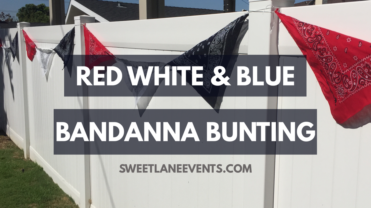 Picture of Red White & Blue Bandanna Bunting