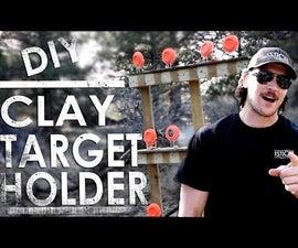 DIY Homemade Clay Target Holder - CHEAP & PORTABLE