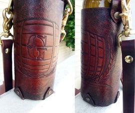 Tooled Leather Grolsch Bottle Holder