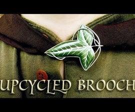 DIY Leaf Brooch From a Soda Can