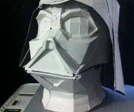 Oversized Darth Vader Paper Helmet of details