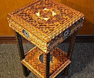 High Celtic Cross End Table