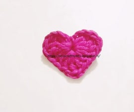 Small Crochet Heart Applique