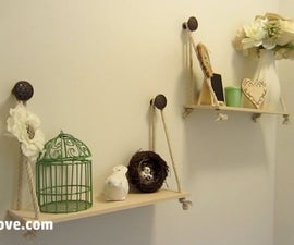 Simple Custom Hanging Shelves