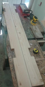 Laying Out the Foot End of the Bunk Bed!   :{)