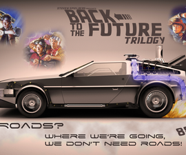 Cool Back to the Future film poster