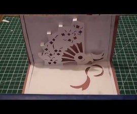 How to make a Kirigami Pop Up Hand Fan Card (Paper Craft)!